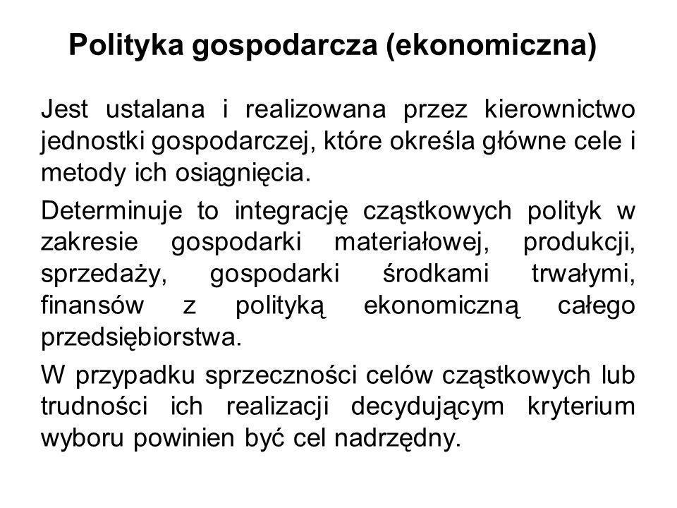 Polityka gospodarcza (ekonomiczna)