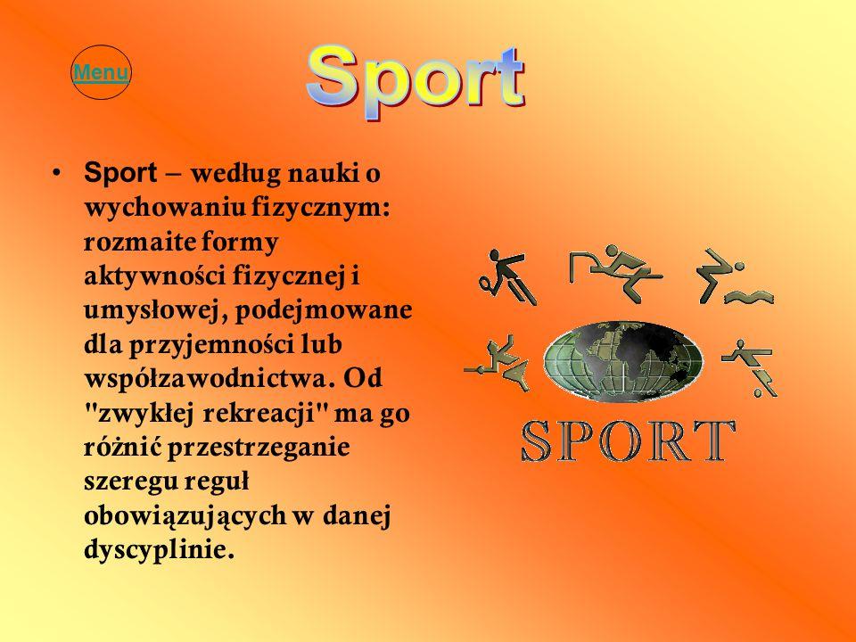 Menu Sport.