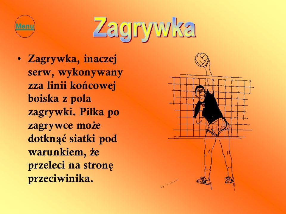 Menu Zagrywka.