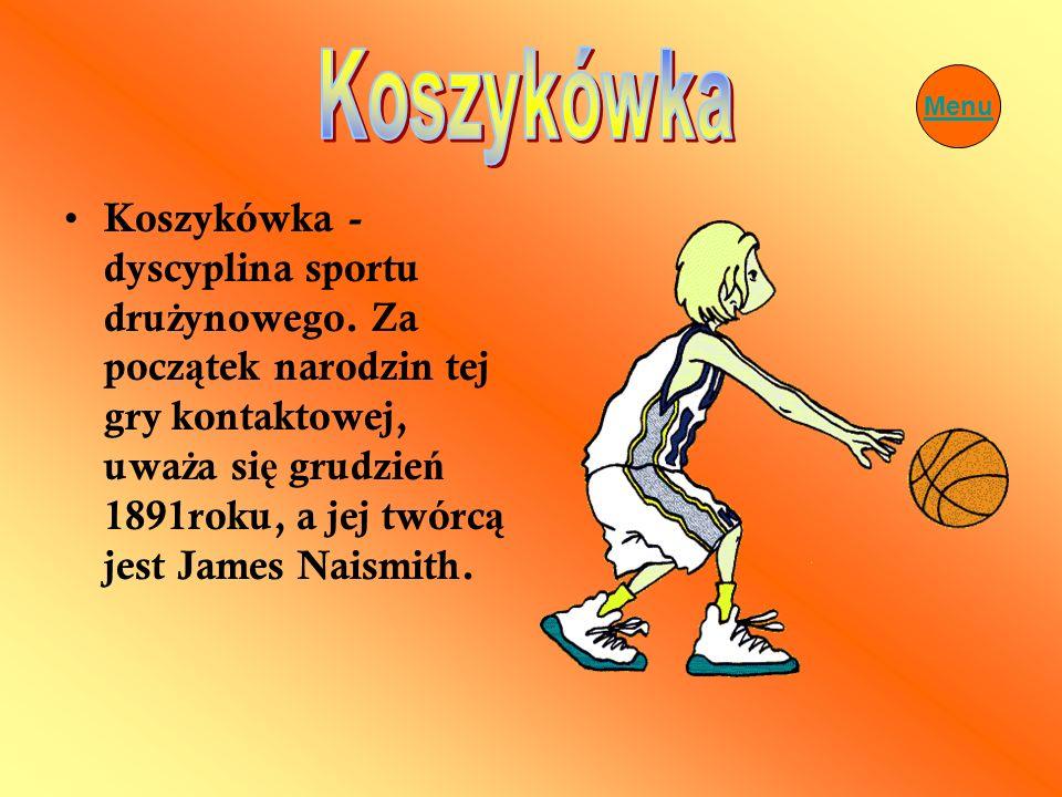 Koszykówka Menu.