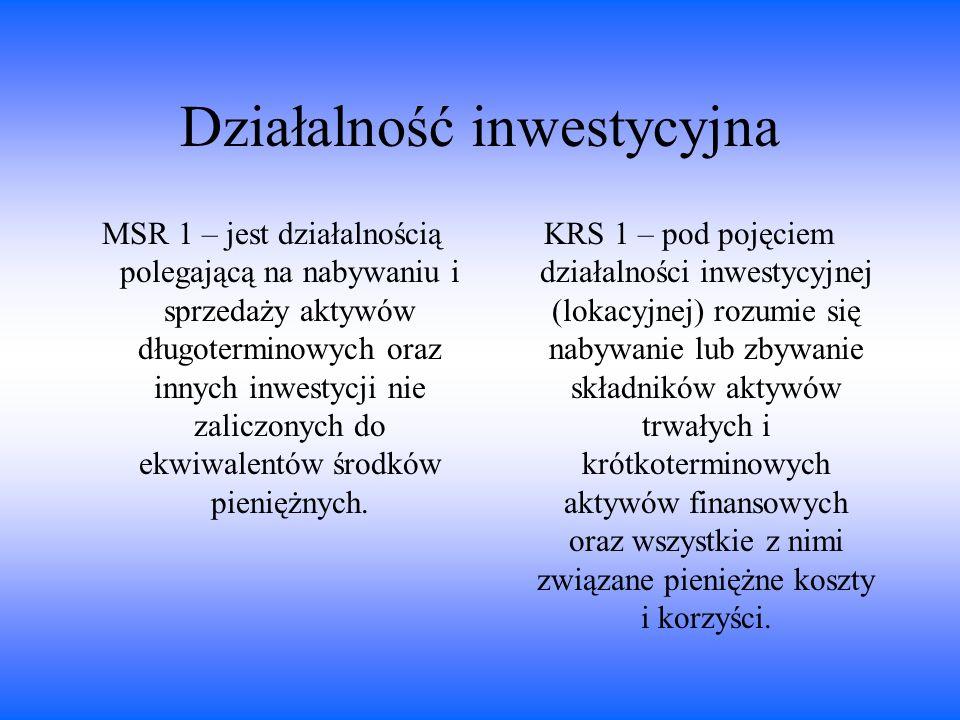 Działalność inwestycyjna