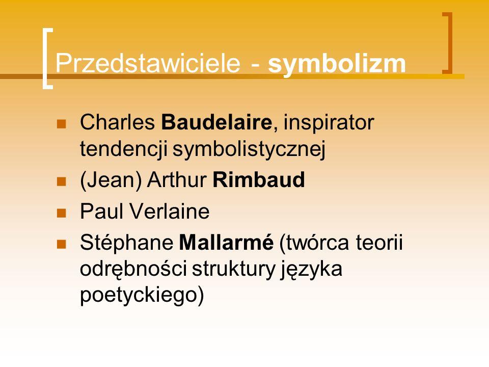 Przedstawiciele - symbolizm