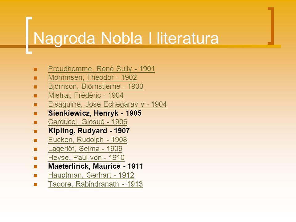 Nagroda Nobla l literatura