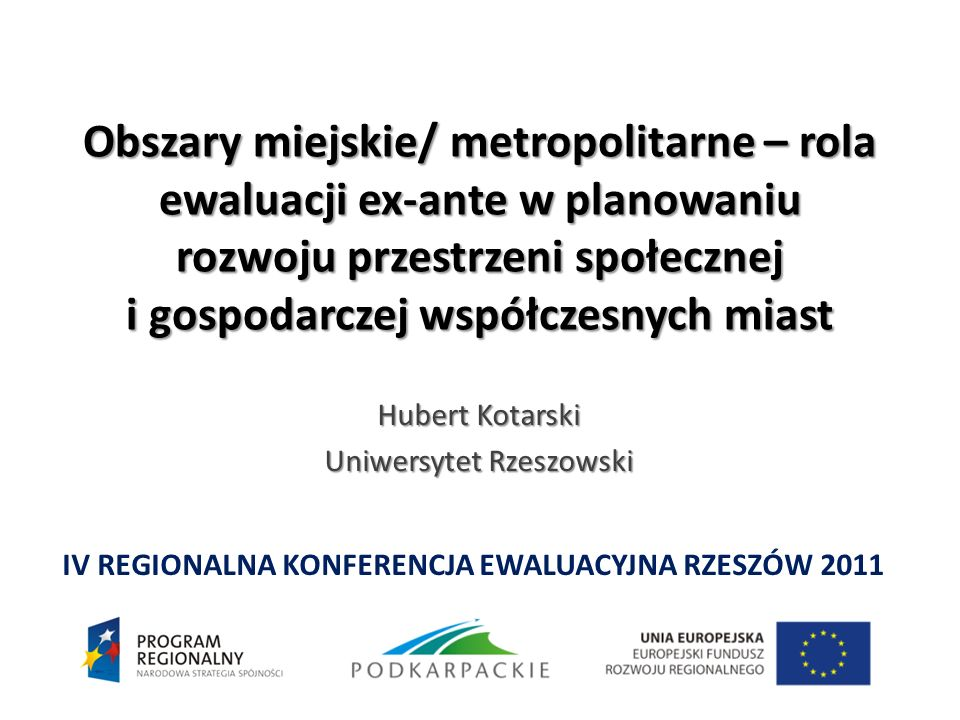 Hubert Kotarski Uniwersytet Rzeszowski