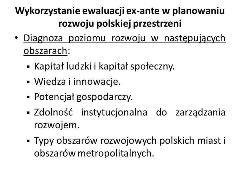 Wykorzystanie ewaluacji ex-ante w planowaniu rozwoju polskiej przestrzeni