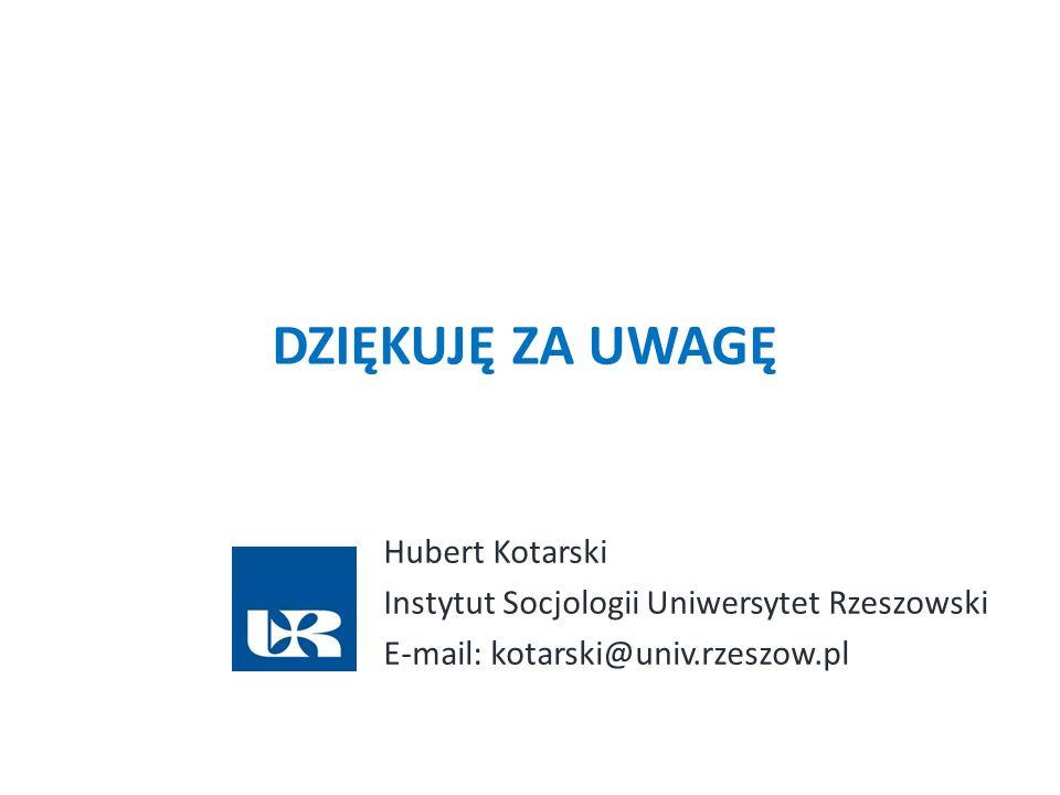 Dziękuję za uwagę Hubert Kotarski
