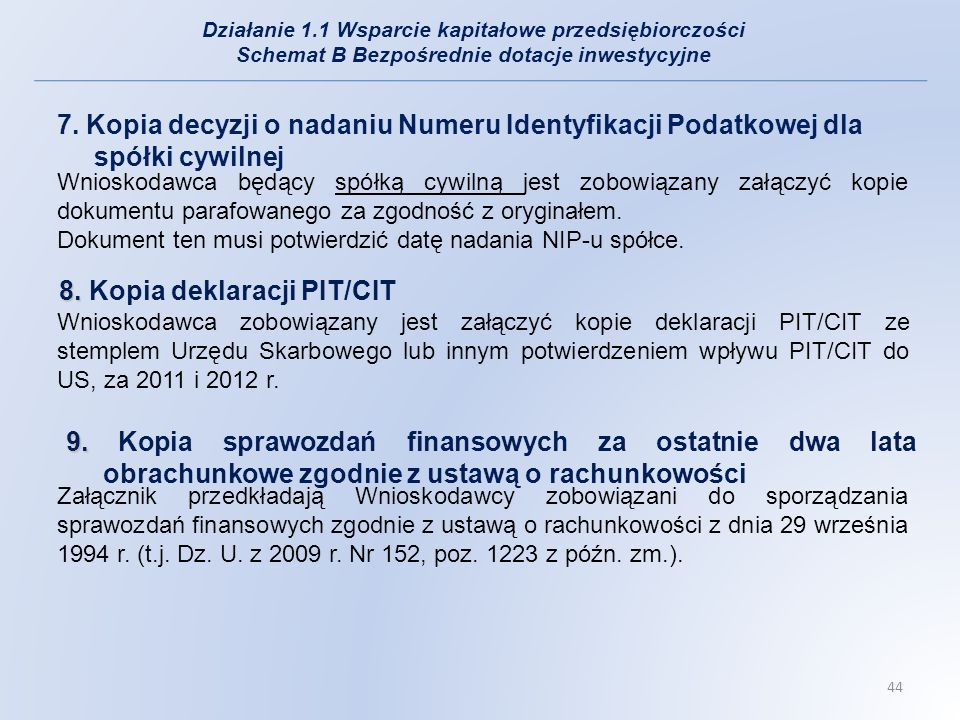 Kopia deklaracji PIT/CIT