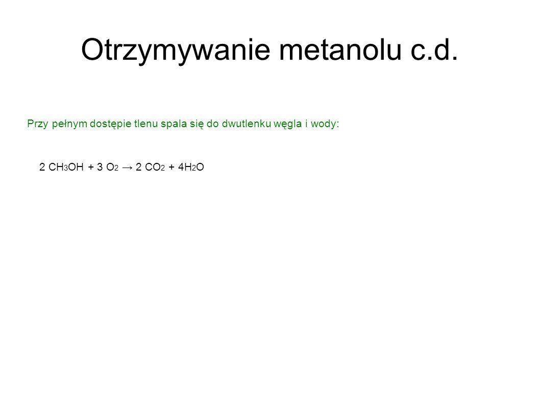 Otrzymywanie metanolu c.d.