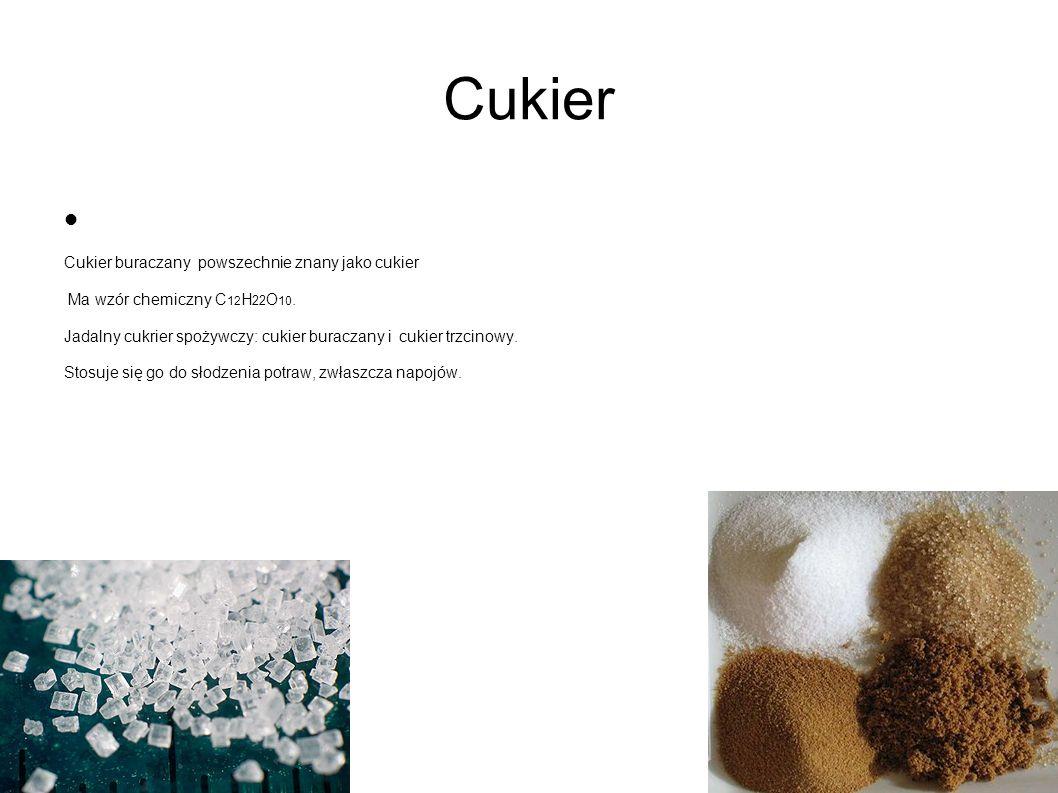 Cukier Cukier buraczany powszechnie znany jako cukier