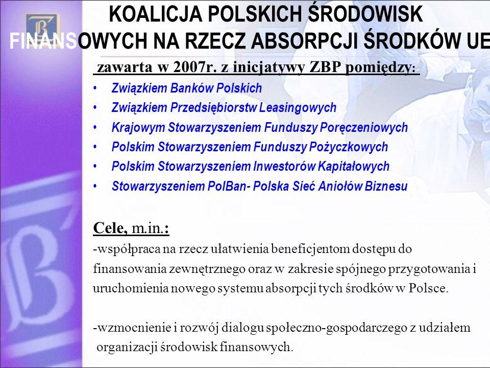 KOALICJA POLSKICH ŚRODOWISK FINANSOWYCH NA RZECZ ABSORPCJI ŚRODKÓW UE