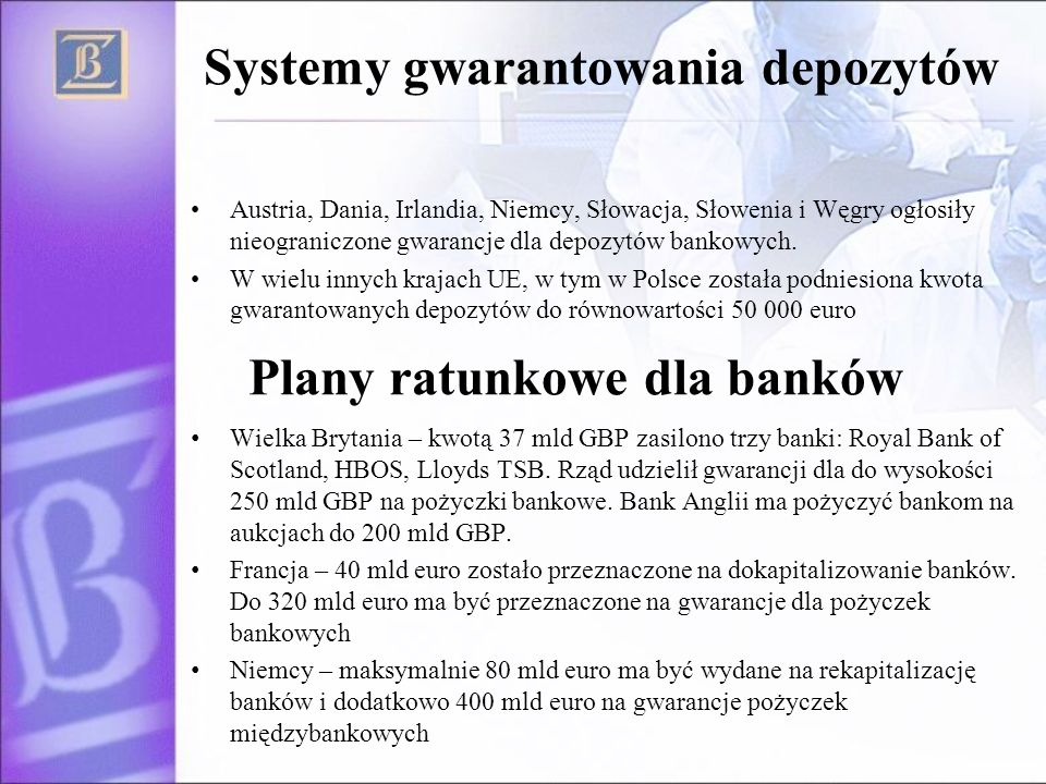 Systemy gwarantowania depozytów