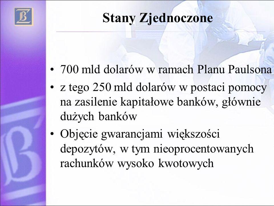 Stany Zjednoczone 700 mld dolarów w ramach Planu Paulsona