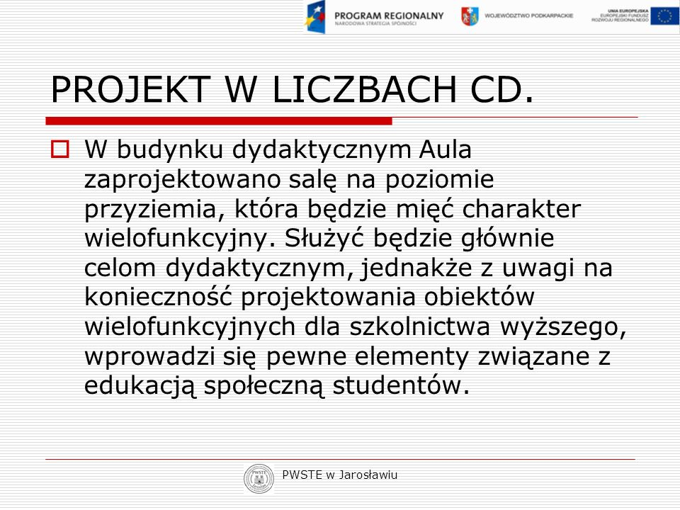 PROJEKT W LICZBACH CD.