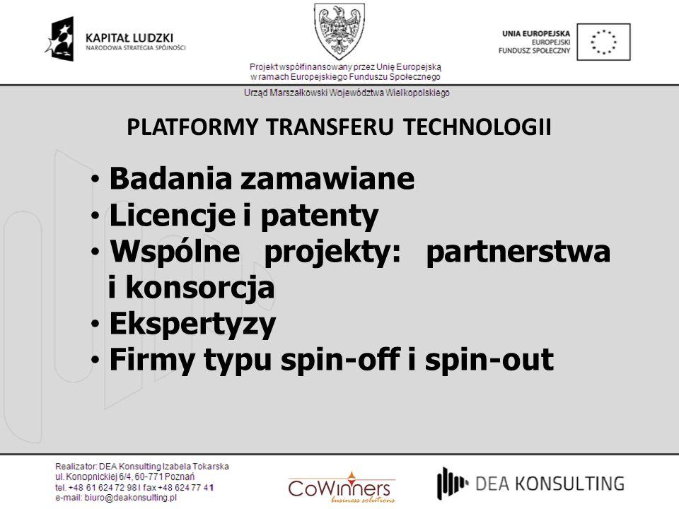PLATFORMY TRANSFERU TECHNOLOGII