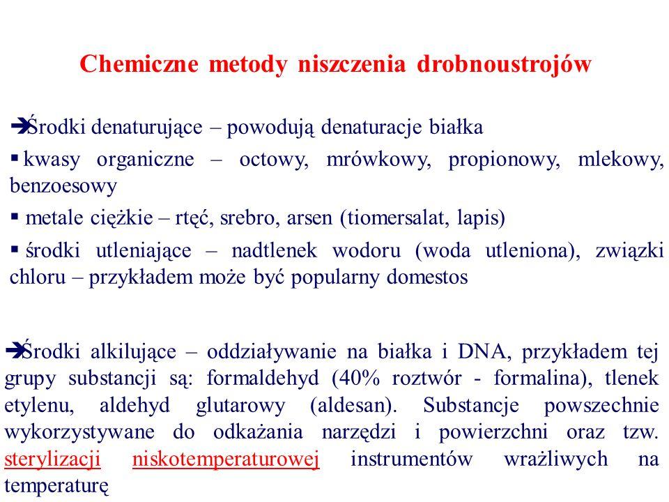 Chemiczne metody niszczenia drobnoustrojów
