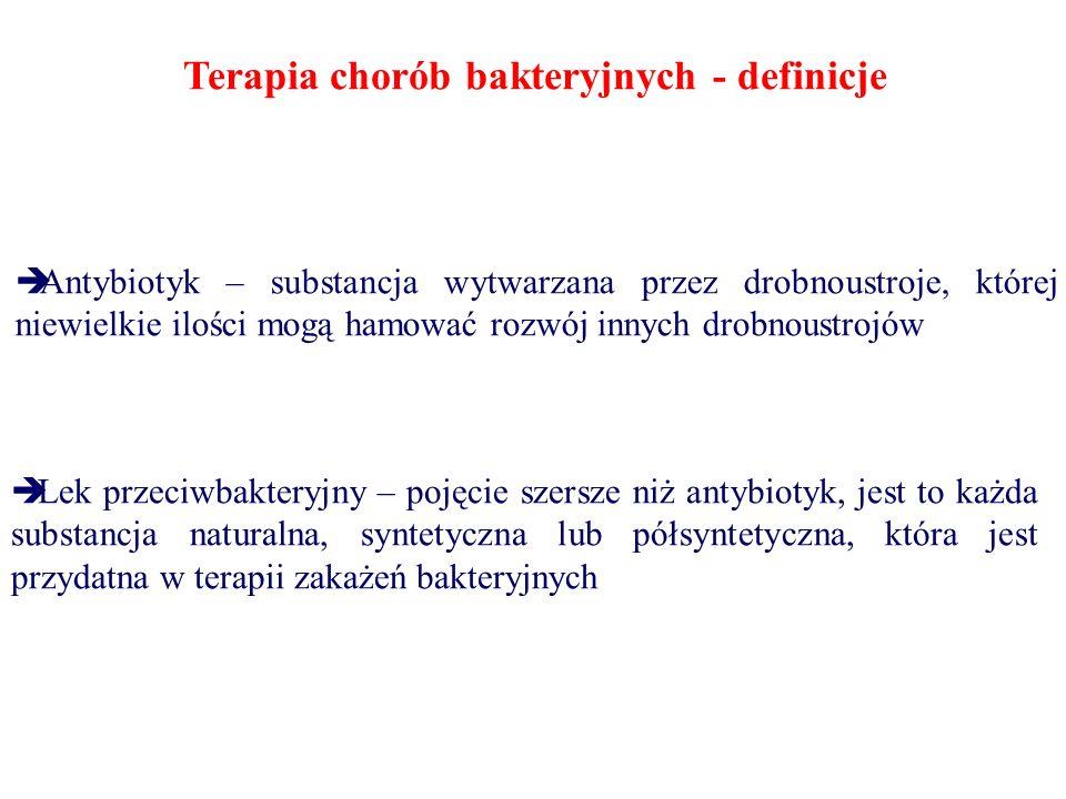 Terapia chorób bakteryjnych - definicje