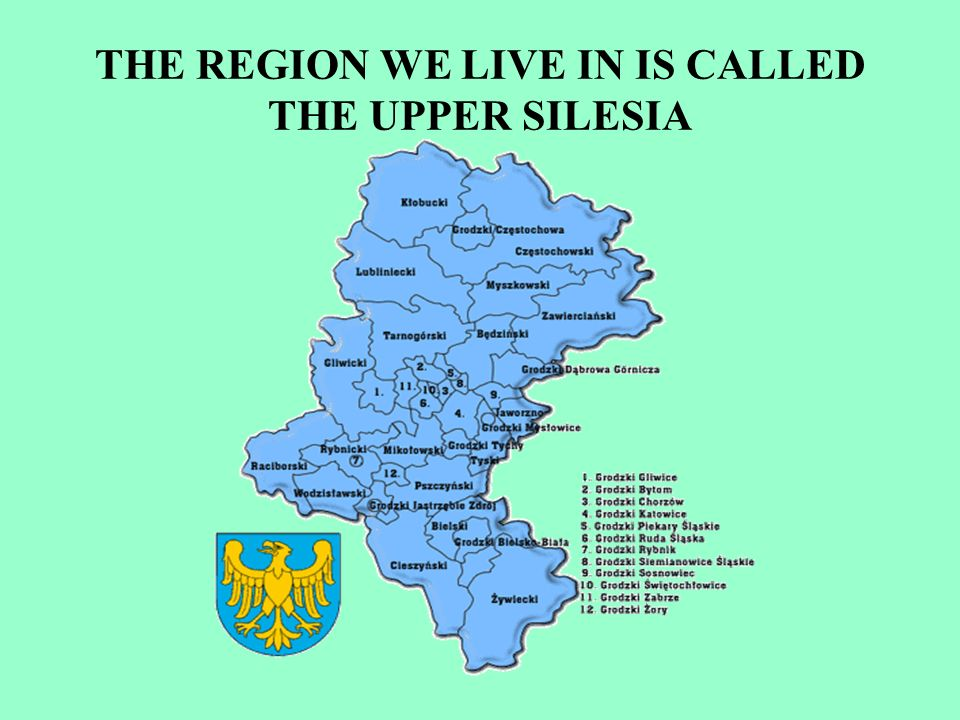 THE REGION WE LIVE IN IS CALLED THE UPPER SILESIA