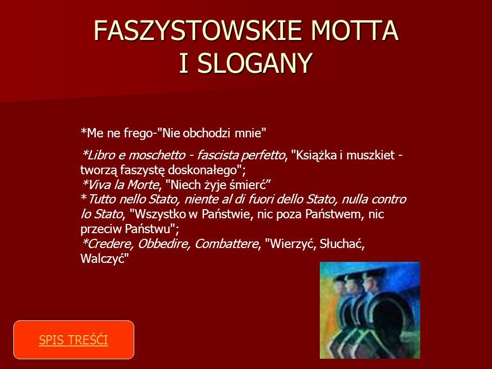 FASZYSTOWSKIE MOTTA I SLOGANY