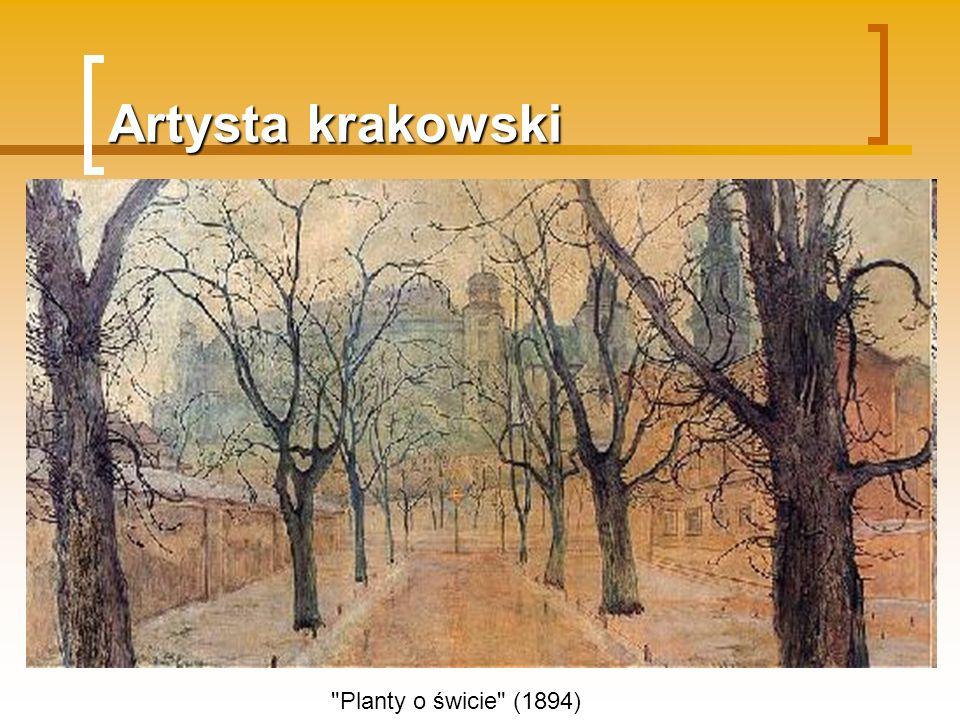 Artysta krakowski Planty o świcie (1894)
