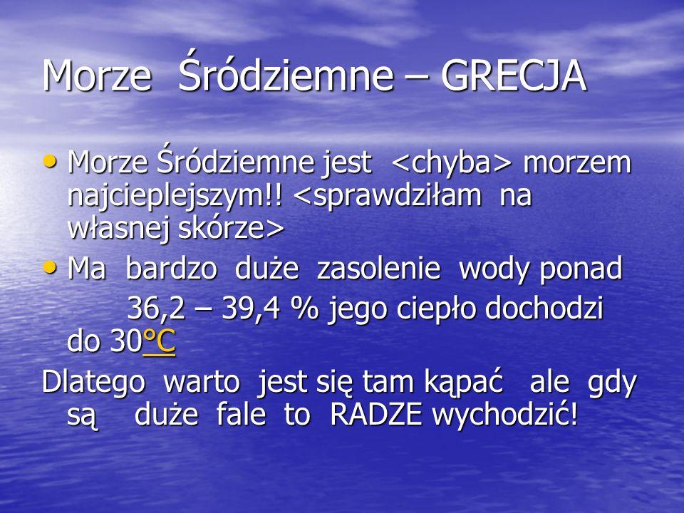 Morze Śródziemne – GRECJA