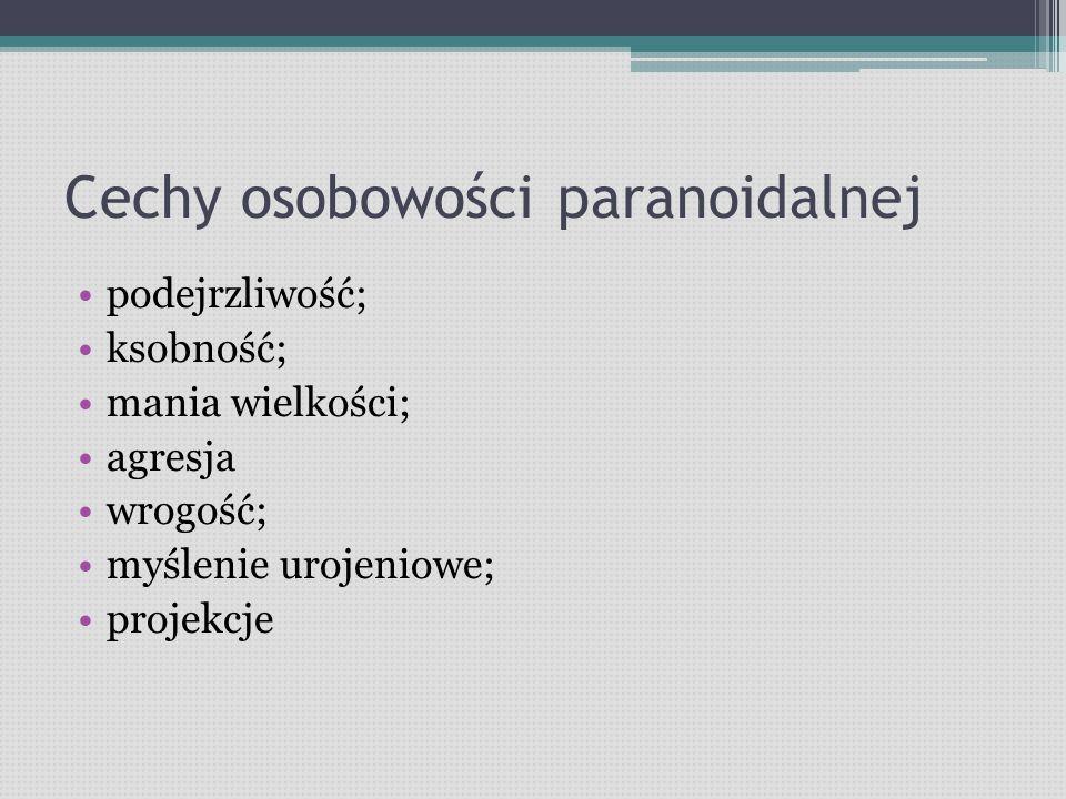 Cechy osobowości paranoidalnej