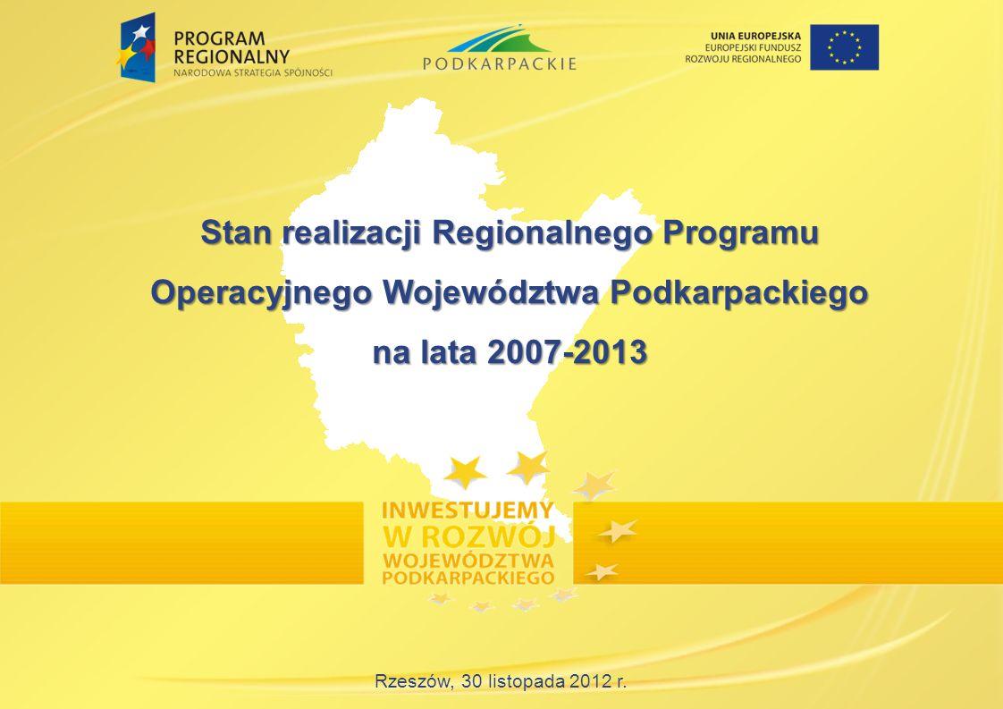 Stan realizacji Regionalnego Programu Operacyjnego Województwa Podkarpackiego