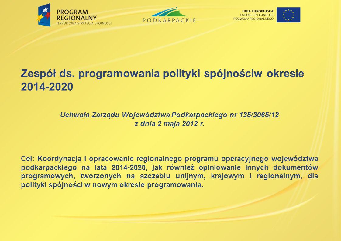 Uchwała Zarządu Województwa Podkarpackiego nr 135/3065/12
