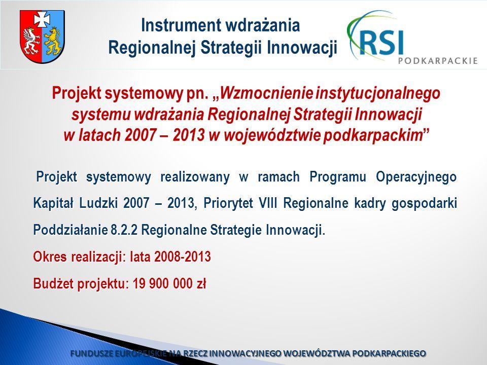 Instrument wdrażania Regionalnej Strategii Innowacji