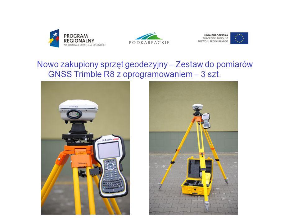 Nowo zakupiony sprzęt geodezyjny – Zestaw do pomiarów GNSS Trimble R8 z oprogramowaniem – 3 szt.