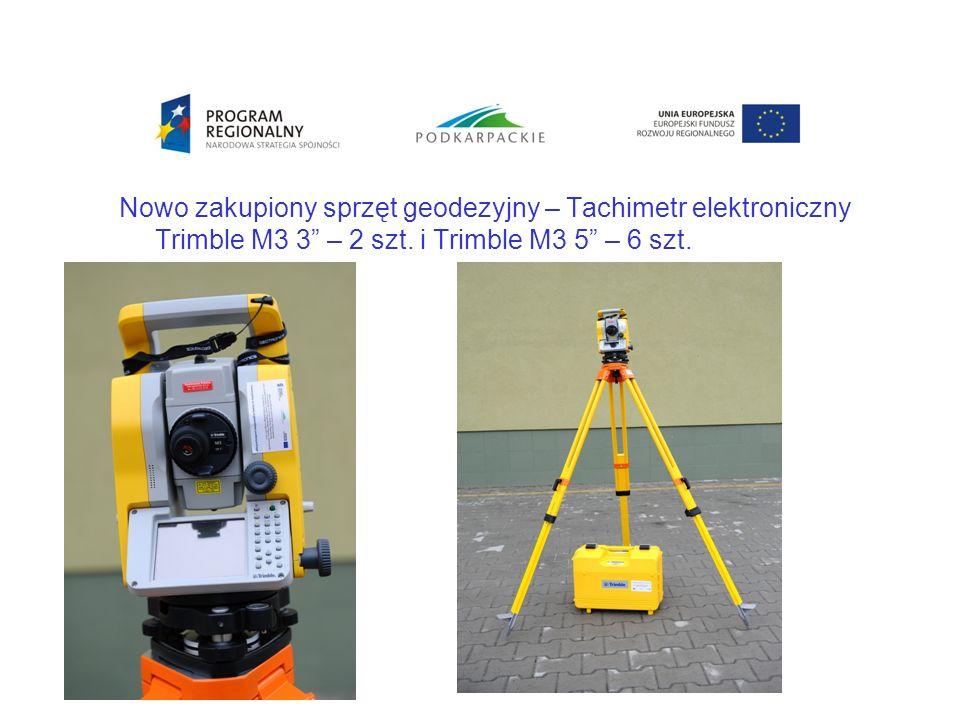 Nowo zakupiony sprzęt geodezyjny – Tachimetr elektroniczny Trimble M3 3 – 2 szt.