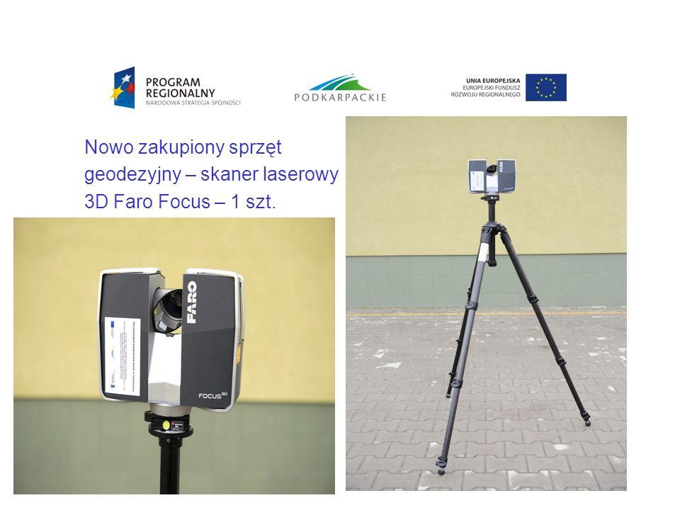 Nowo zakupiony sprzęt geodezyjny – skaner laserowy 3D Faro Focus – 1 szt.