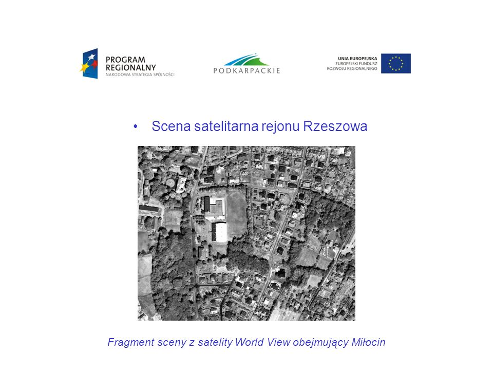 Scena satelitarna rejonu Rzeszowa