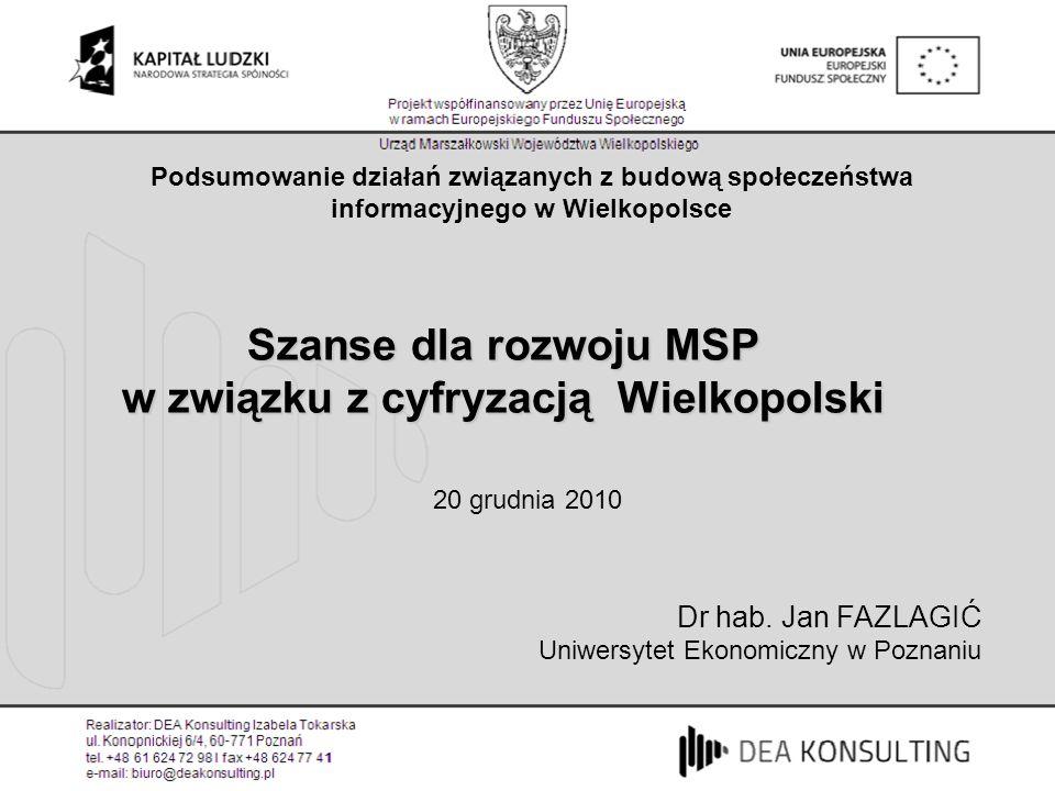 Szanse dla rozwoju MSP w związku z cyfryzacją Wielkopolski