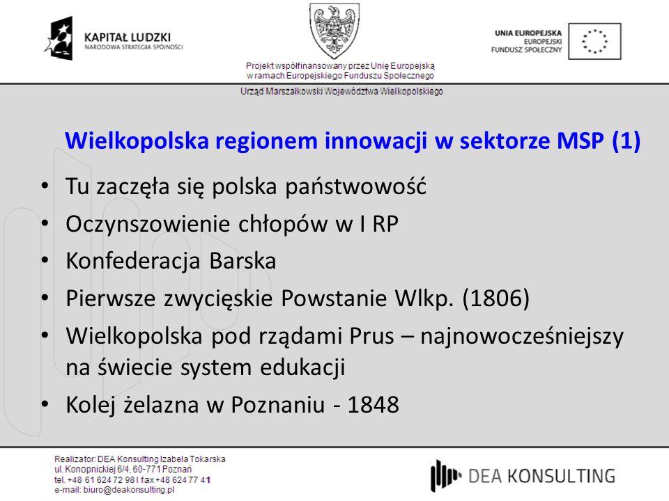 Wielkopolska regionem innowacji w sektorze MSP (1)