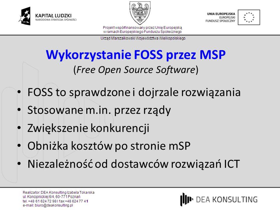 Wykorzystanie FOSS przez MSP (Free Open Source Software)