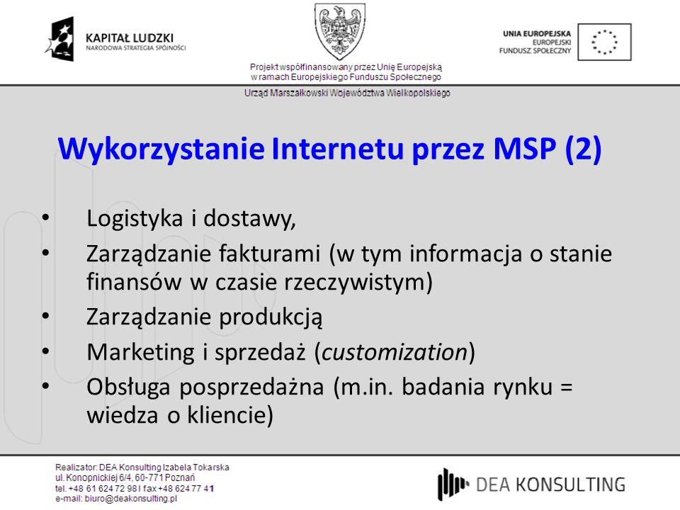 Wykorzystanie Internetu przez MSP (2)