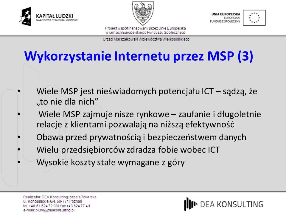 Wykorzystanie Internetu przez MSP (3)