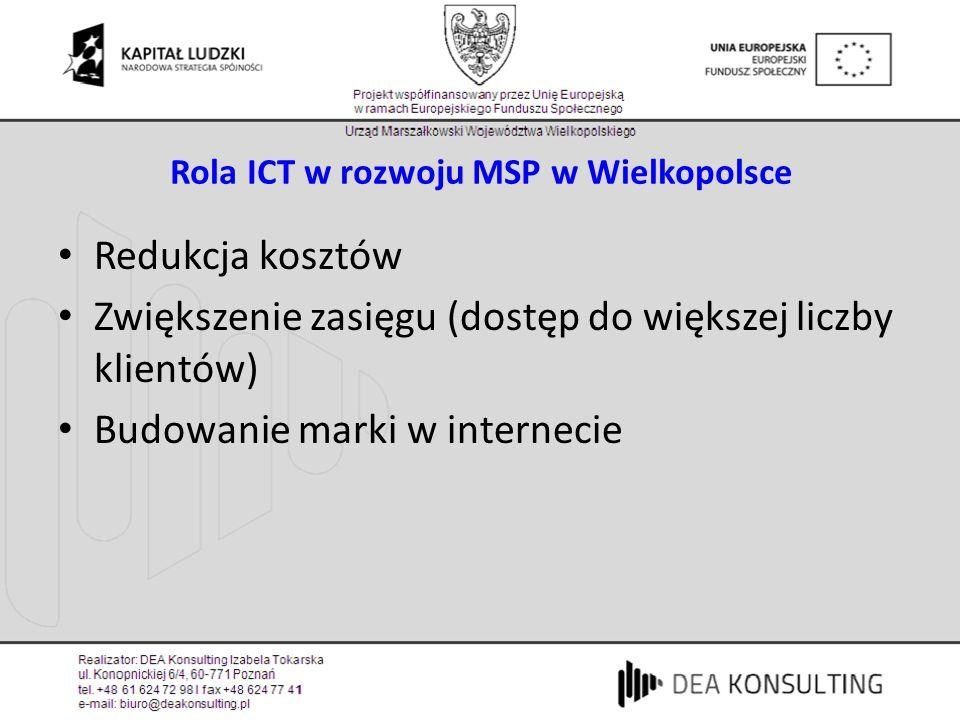 Rola ICT w rozwoju MSP w Wielkopolsce