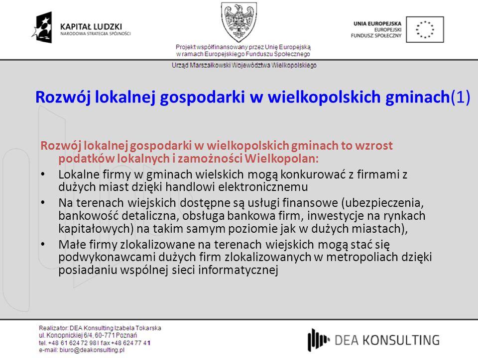 Rozwój lokalnej gospodarki w wielkopolskich gminach(1)