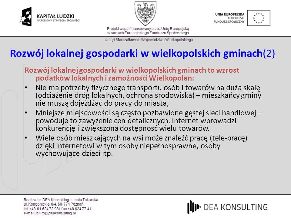 Rozwój lokalnej gospodarki w wielkopolskich gminach(2)