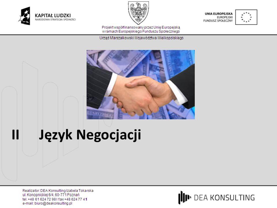 II Język Negocjacji