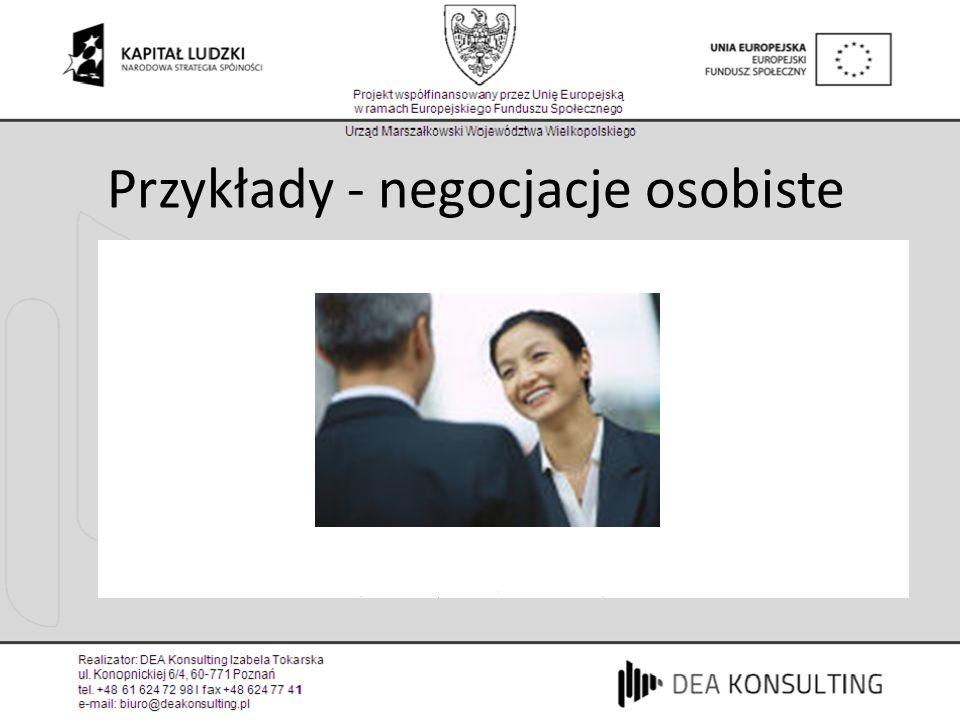 Przykłady - negocjacje osobiste