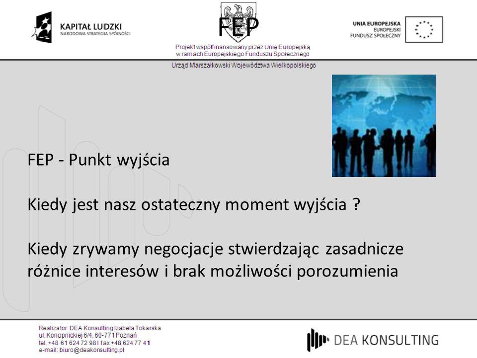 FEP FEP - Punkt wyjścia Kiedy jest nasz ostateczny moment wyjścia