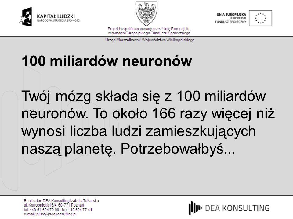 . 100 miliardów neuronów.