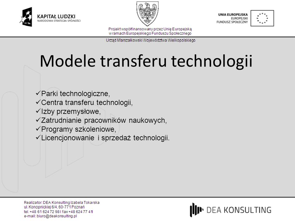 Modele transferu technologii