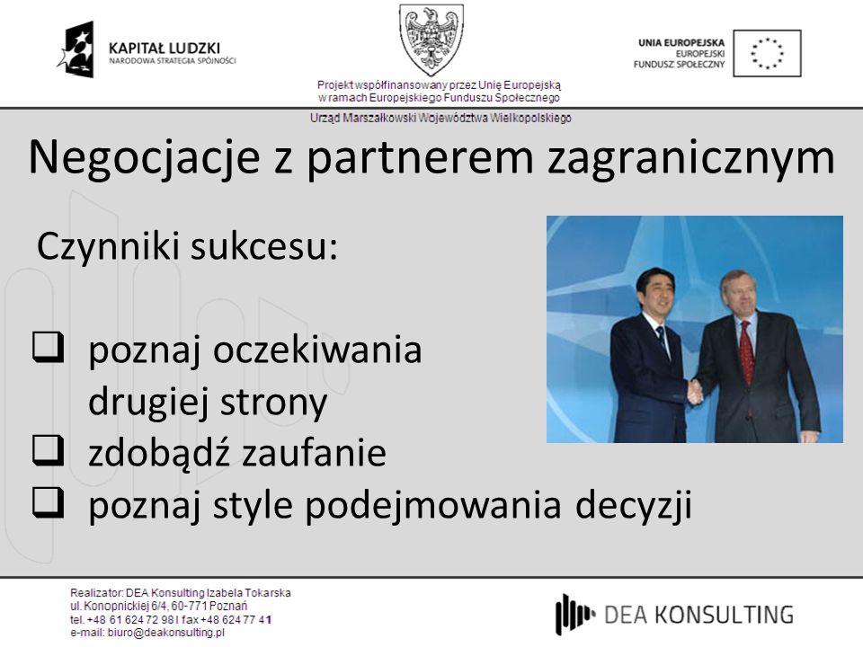 Negocjacje z partnerem zagranicznym