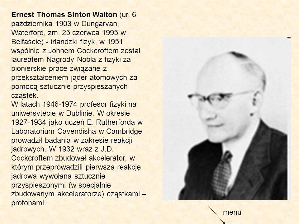 Ernest Thomas Sinton Walton (ur
