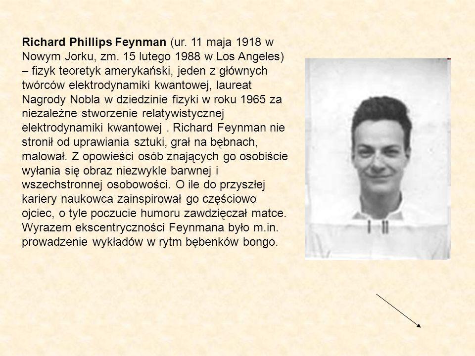 Richard Phillips Feynman (ur. 11 maja 1918 w Nowym Jorku, zm
