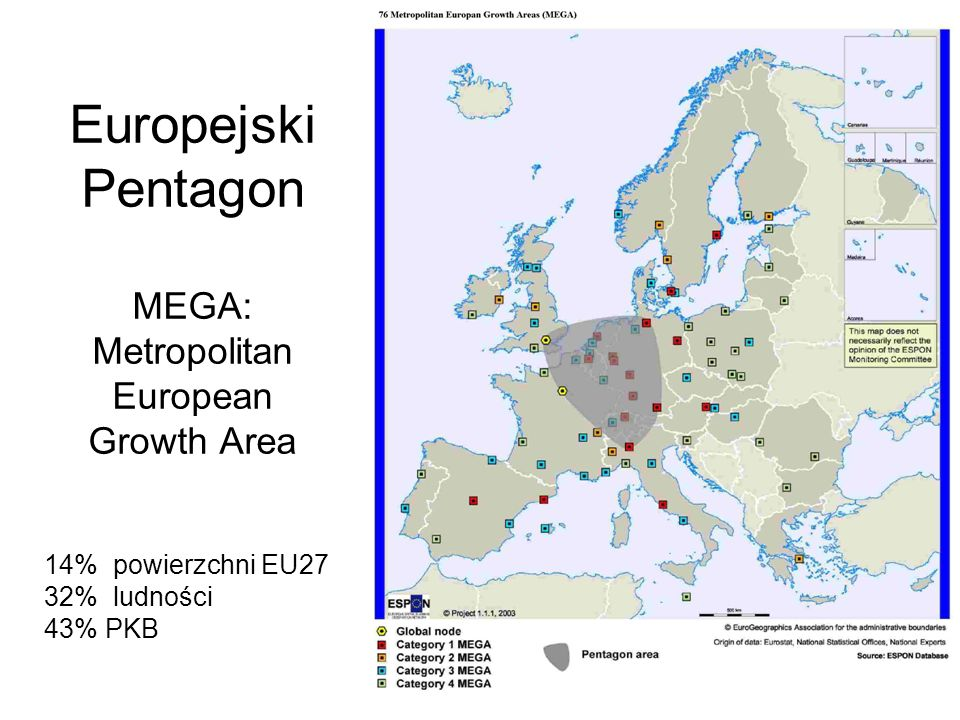 Europejski Pentagon MEGA: Metropolitan European Growth Area
