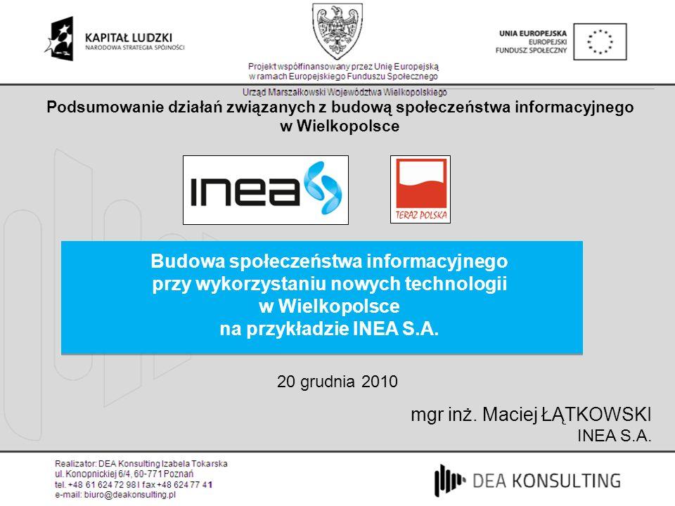Podsumowanie działań związanych z budową społeczeństwa informacyjnego